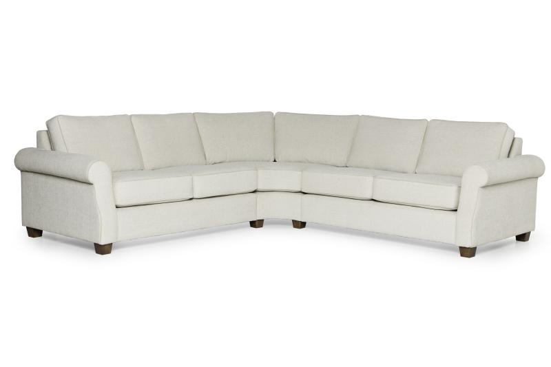 JULIETTE 2 seater + round corner 90 + 2 seater (LUIZA 4 sand, LUIZA 8 beige) (2) softnord lyragroup