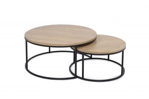 ROUND table lacquered sofa scandinavian style softnord