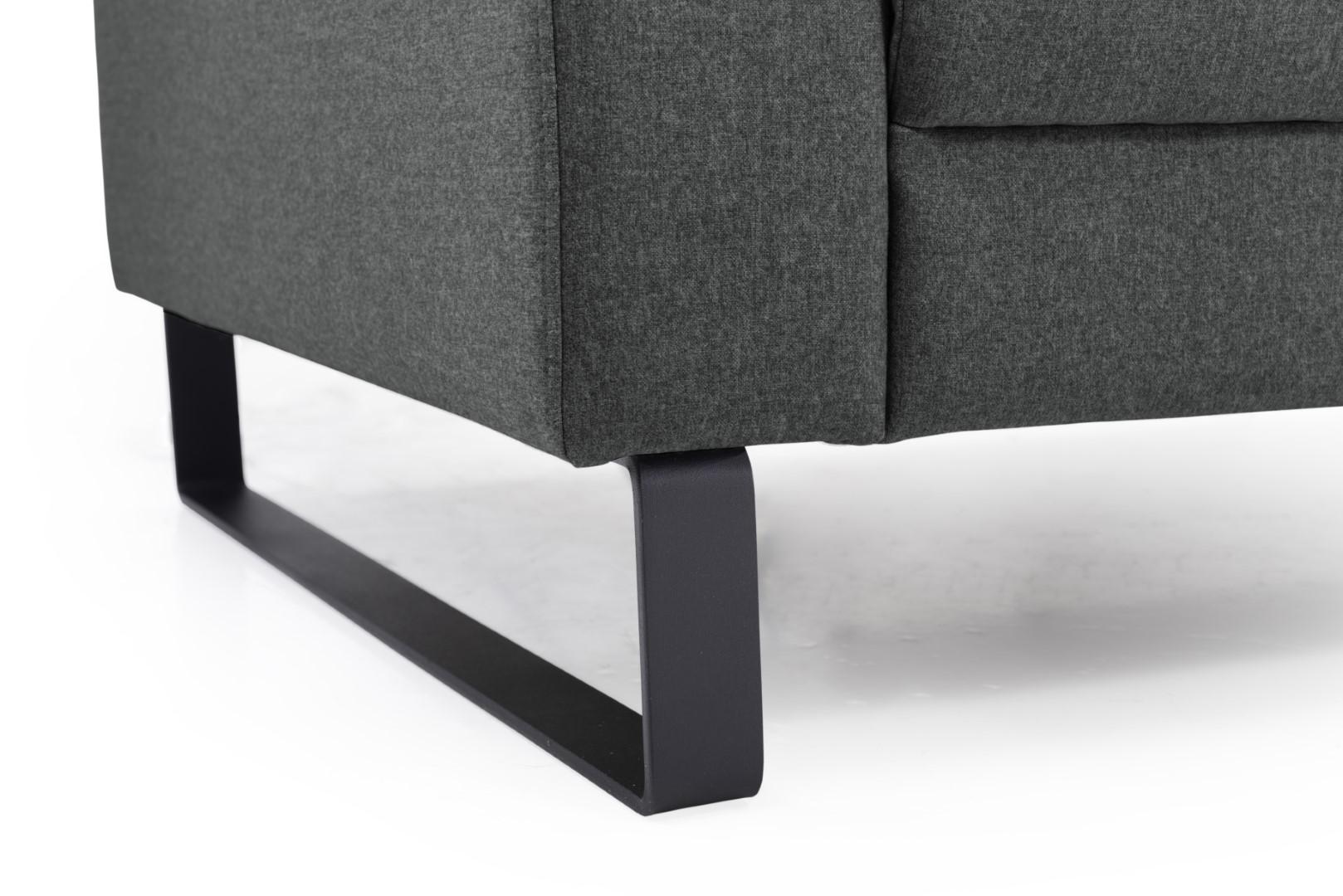Marvelous Plaza Slide Leg 3 2 Dark Grey Sofa Scandinavian Style Pdpeps Interior Chair Design Pdpepsorg